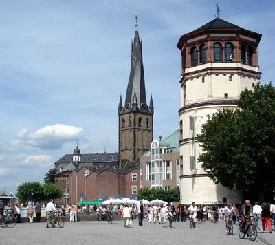 Lambertus Church and Tower, Burgplatz, Dusseldorf Altstadt