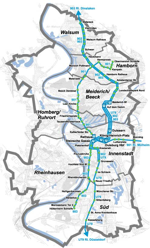 Public Transport in the RheinRuhr region Portsmouth Duisburg Anglo